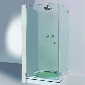 Sprinz Omega Tür mit Seitenwand kristall hell SpriClean / chrom