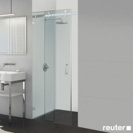 Sprinz Opalin S Tür in Nische ESG kristall hell / chrom