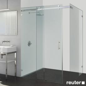 Sprinz Opalin S Tür mit Seitenwand B: bis 160/160 H: 200 cm kristall hell / chrom