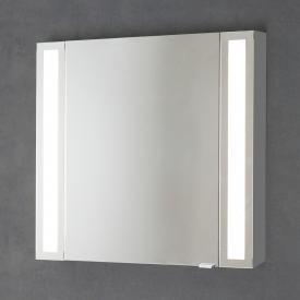 Sprinz Silver-Line Aufputz Spiegelschrank mit LED-Beleuchtung mit 1 Tür Anschlag links, Korpus aluminium matt, ohne Hintergrundbeleuchtung