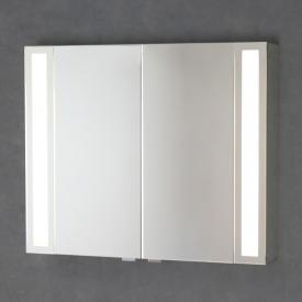 Sprinz Silver-Line Aufputz Spiegelschrank mit LED-Beleuchtung mit 2 Türen Korpus verspiegelt, ohne Hintergrundbeleuchtung