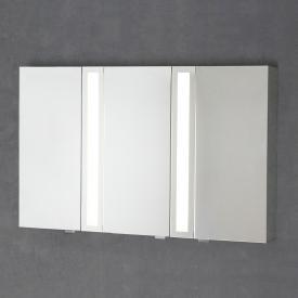 Sprinz Silver-Line Aufputz Spiegelschrank mit LED-Beleuchtung mit 3 Türen Korpus verspiegelt, ohne Hintergrundbeleuchtung