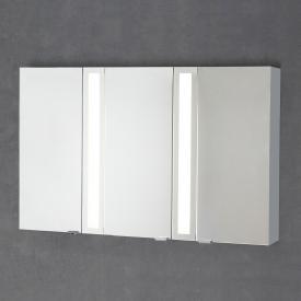 Sprinz Silver-Line Aufputz Spiegelschrank mit LED-Beleuchtung mit 3 Türen Korpus aluminium matt, ohne Hintergrundbeleuchtung