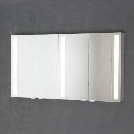 Sprinz Silver-Line Aufputz Spiegelschrank mit LED-Beleuchtung mit 4 Türen Korpus aluminium matt, ohne Hintergrundbeleuchtung