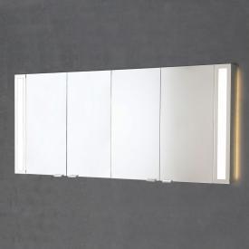 Sprinz Silver-Line Aufputz Spiegelschrank mit LED-Beleuchtung mit 4 Türen Korpus aluminium matt, mit Hintergrundbeleuchtung