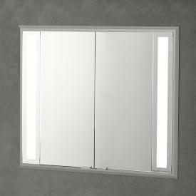 Sprinz Silver-Line Unterputz Spiegelschrank mit LED-Beleuchtung mit 2 Türen ohne Hintergrundbeleuchtung
