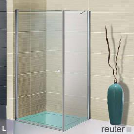 Sprinz Sprinter Plus Pendeltür mit Seitenwand ESG kristall hell mit SpriClean / silber hochglanz, WEM 98,3-100 cm