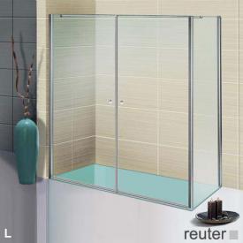 Sprinz Sprinter Plus Schwingtür mit Seitenwand ESG kristall hell / silber hochglanz, WEM 88,3-90 cm