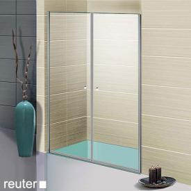 Sprinz Sprinter Plus Tür in Nische kristall hell / silber hochglanz, WEM 86,5-90 cm
