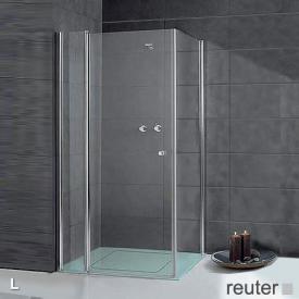 Sprinz Sprinter Plus Tür mit Seitenwand kristall hell SpriClean / silber hochglanz, WEM 98,3-100 cm