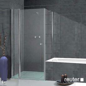 Sprinz Sprinter Plus Tür mit Seitenwand kristall hell / silber hochglanz, WEM 88,3-90 cm
