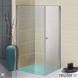 Sprinz Sprinter Plus Tür mit Seitenwand kristall hell SpriClean / silber hochglanz, WEM 86,5-88,2 cm