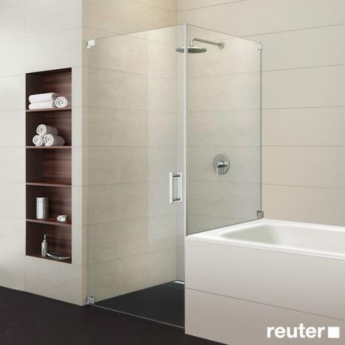 sprinz achat r plus t r mit kurzer seitenwand kristall hell chrom ar14 0 chr reuter. Black Bedroom Furniture Sets. Home Design Ideas