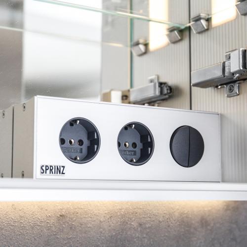 Sprinz silver line unterputz spiegelschrank modell nr 04 ohne hintergrundbeleuchtung for Unterputz spiegelschrank