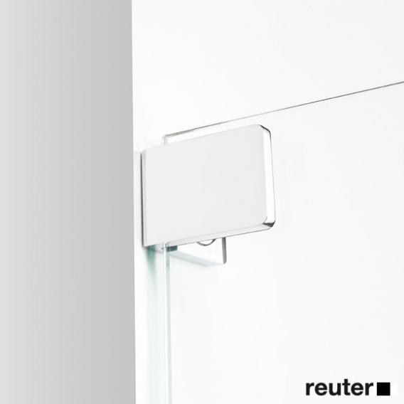 Sprinz Achat R Plus Schwingtür mit Festfeld und Seitenwand ESG kristall hell / chrom