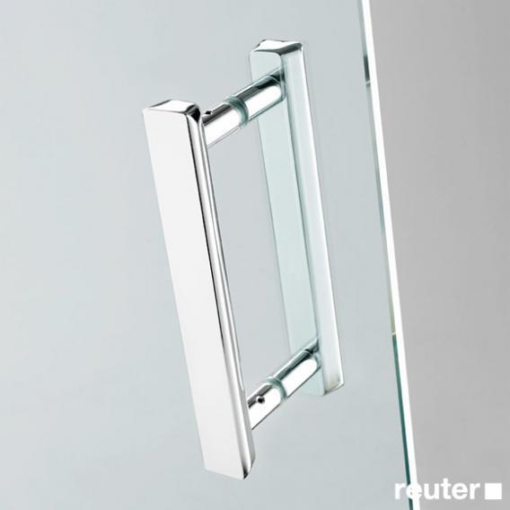 Sprinz Achat R Plus Schwingtür mit Nebenteil und Seitenwand verkürzt ESG kristall hell / chrom