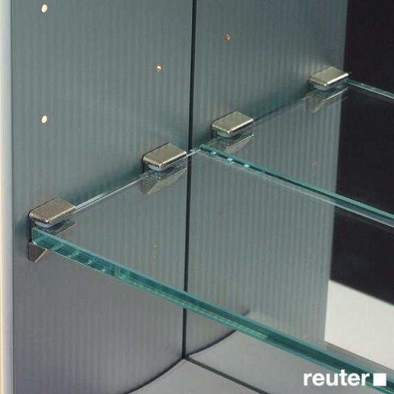 Sprinz Classical-Line Unterputz-Spiegelschrank umlaufend beleuchtet Korpus aluminium matt / Rückwand verspiegelt
