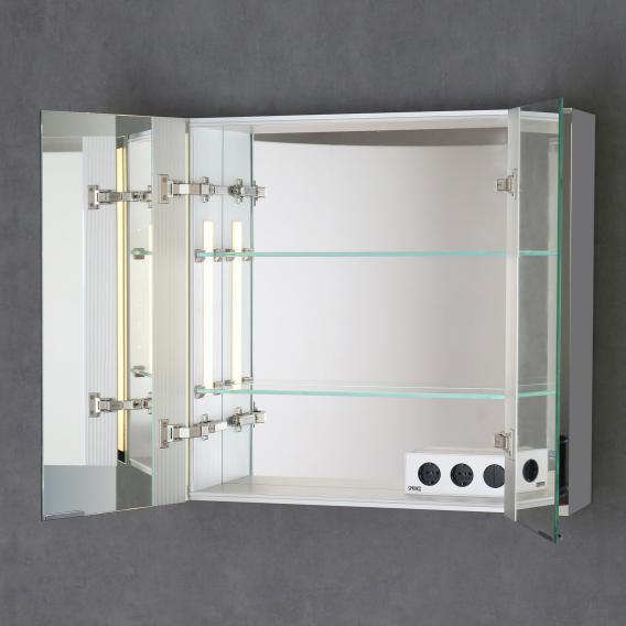 Sprinz Silver-Line Aufputz Spiegelschrank Modell-Nr. 02 Korpus aluminium matt, ohne Hintergrundbeleuchtung
