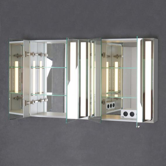 Sprinz Silver-Line Aufputz Spiegelschrank Modell-Nr. 07 Korpus aluminium matt, ohne Hintergrundbeleuchtung