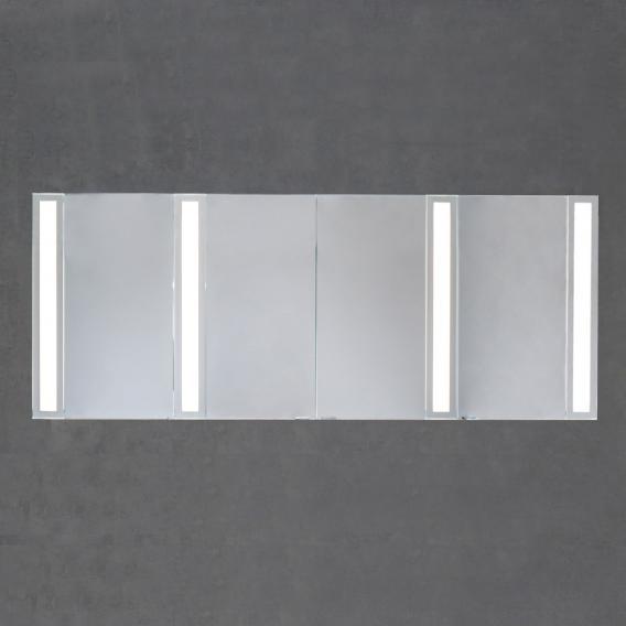 Sprinz Silver-Line Aufputz Spiegelschrank Modell-Nr. 08 Korpus aluminium matt, ohne Hintergrundbeleuchtung