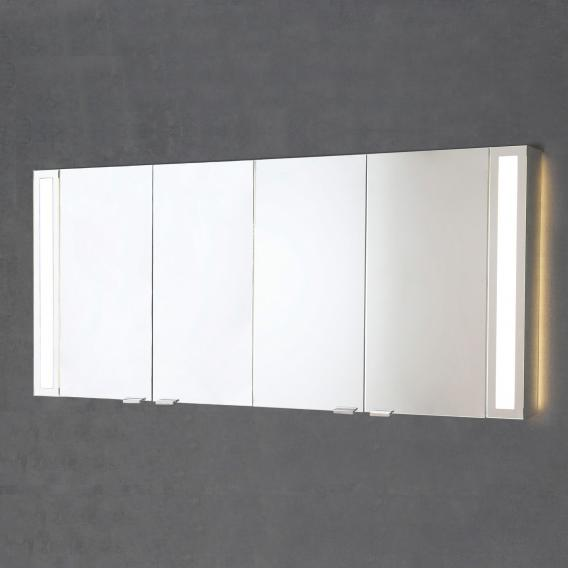 Sprinz Silver-Line Aufputz Spiegelschrank Modell-Nr. 06 Korpus aluminium matt, mit Hintergrundbeleuchtung