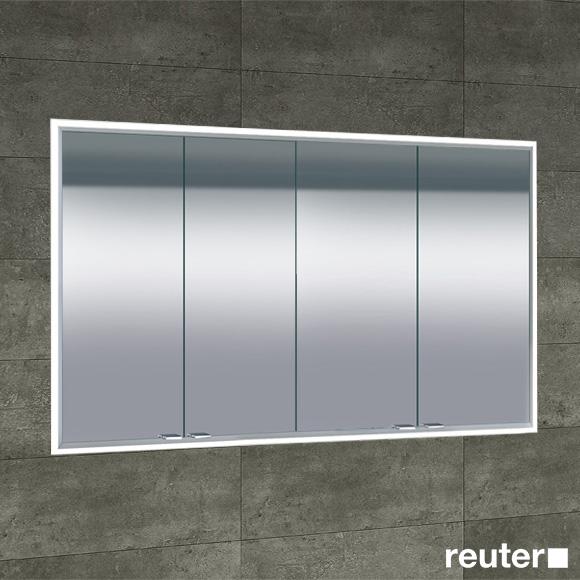 Sprinz Classical-Line Unterputz-Spiegelschrank mit LED Beleuchtung mit 4 Türen