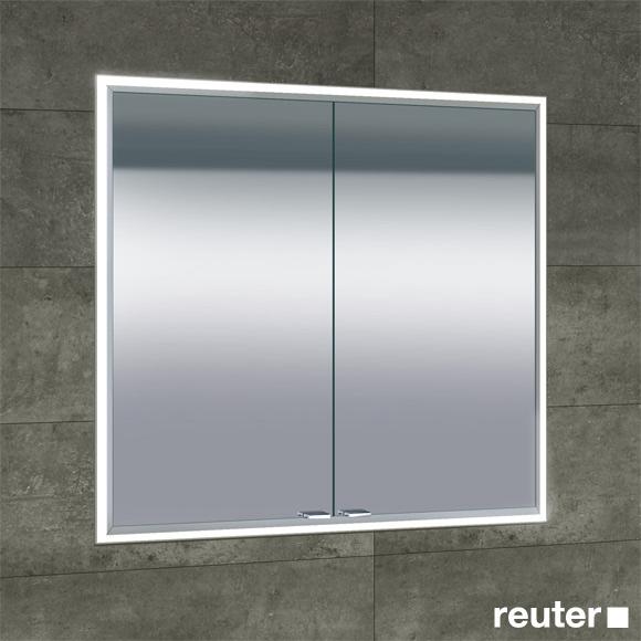 Sprinz Classical-Line Unterputz Spiegelschrank mit LED Beleuchtung mit 2 Türen