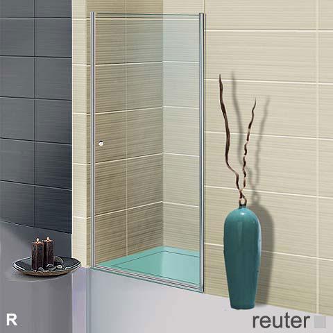 Sprinz Sprinter Plus Pendeltür in Nische ESG kristall hell / silber hochglanz, WEM 88,3-90 cm