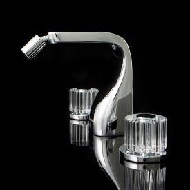 Steinberg Crystal 3-Loch-Bidetarmatur mit Ablaufgarnitur, chrom/klar
