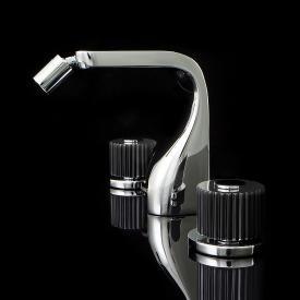 Steinberg Crystal 3-Loch-Bidetarmatur mit Ablaufgarnitur, chrom/schwarz