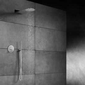 """Steinberg Sensual Rain Duschsystem mit """"Wall Rain"""" Regenbrause & Thermostat, rund"""