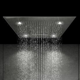 Steinberg Sensual Rain Regenpaneel B: 600 T: 600 mm, mit LED-Beleuchtung edelstahl poliert