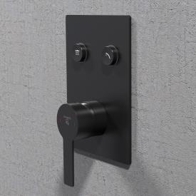 Steinberg Sensual Rain Unterputz-Einhebelmischbatterie  2 Verbraucher schwarz matt