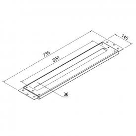 Steinberg Serie 100 Montageplatte für alle Waschtisch- und Wannenrandarmaturen