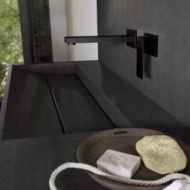 Steinberg Serie 160 das NEUE Fertigmontageset für Waschtisch-Einhebelmischer schwarz matt, Ausladung: 205 mm