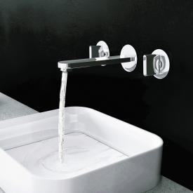 Steinberg Serie 170 3-Loch Waschtischarmatur für Wandmontage Ausladung: 154 mm