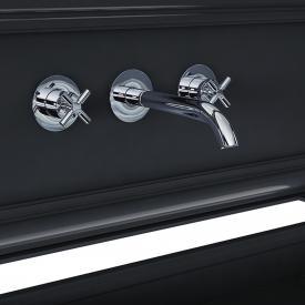 Steinberg Serie 250 3-Loch Waschtisch-Armatur für Wandmontage chrom, Ausladung: 195 mm
