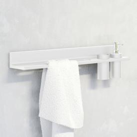 Steinberg Serie 430 Handtuchhalter mit Ausschnitt für Seifenspender oder Becher weiß