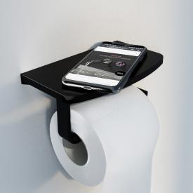 Steinberg Serie 450 Toilettenpapierhalter mit Ablage schwarz matt