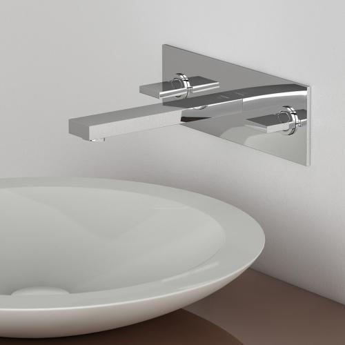 steinberg serie 160 3 loch waschtisch armatur f r wandmontage ausladung 195 mm 160 1955 reuter. Black Bedroom Furniture Sets. Home Design Ideas