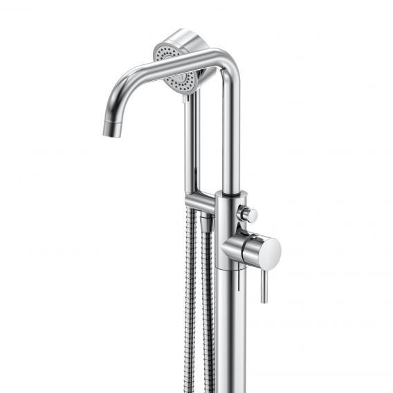Steinberg Serie 100 Wannen- /Brause-Einhebelmischer, freistehend, Ausladung 265 mm chrom