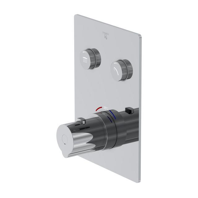 Steinberg Sensual Rain das NEUE Unterputz-Thermostat für 2 Verbraucher, mit Mengenregulierung chrom