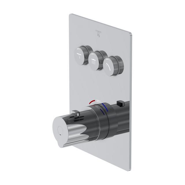 Steinberg Sensual Rain das NEUE Unterputz-Thermostat für 3 Verbraucher, mit Mengenregulierung