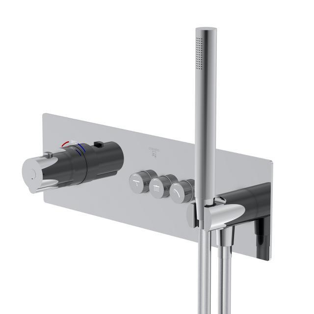 Steinberg Sensual Rain das NEUE Unterputz-Thermostat für 3 Verbraucher, mit Mengenregulierung chrom