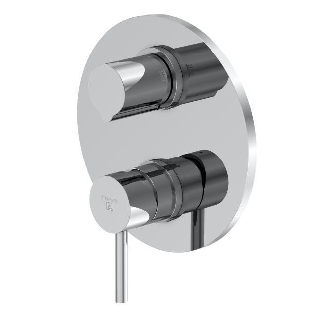 Steinberg Serie 100 Fertigmontageset für Wannen/Brause-Einhebelmischbatterien mit Sicherungskombination