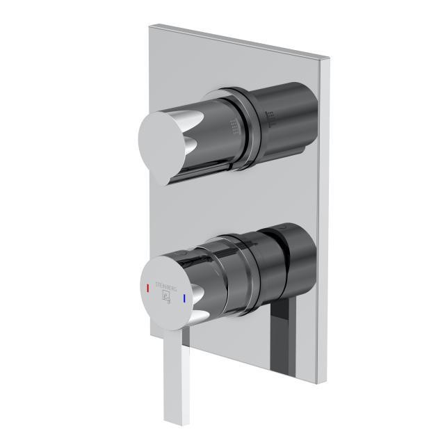 Steinberg Serie 120 Fertigmontageset für Wannen/Brause-Einhebelmischbatterien mit Sicherungskombination