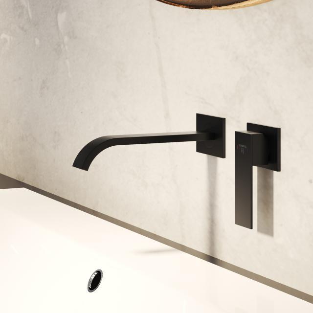 Steinberg Serie 135 das NEUE Fertigmontageset für Waschtisch-Einhebelmischer schwarz matt, Ausladung: 200 mm
