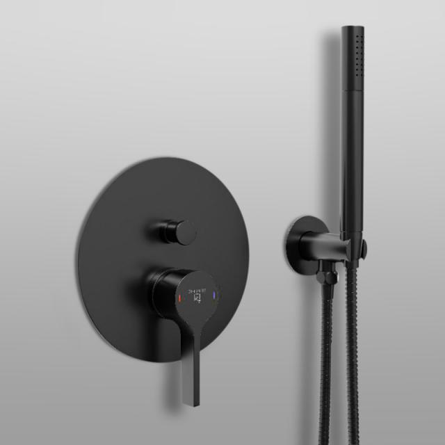 Steinberg 280 das NEUE Fertigmontageset für Wanne/Brause-Einhebelmischer, mit Umsteller schwarz matt