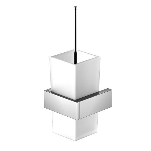 Steinberg Serie 460 WC-Bürstengarnitur für Wandmontage chrom/weiß satiniert