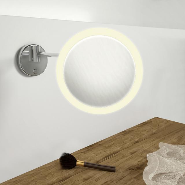 Steinberg Serie 650 LED Wand-Kosmetikspiegel mit Dimmfunktion